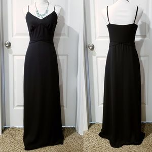 Banana Republic Black Spaghetti Strap Maxi Dress